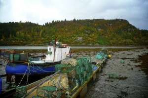 Lobster nets await at Plockton Harbour