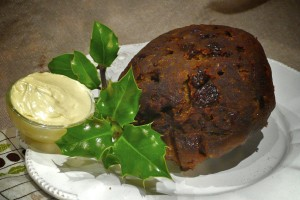 Plum Pudding cooked and plated