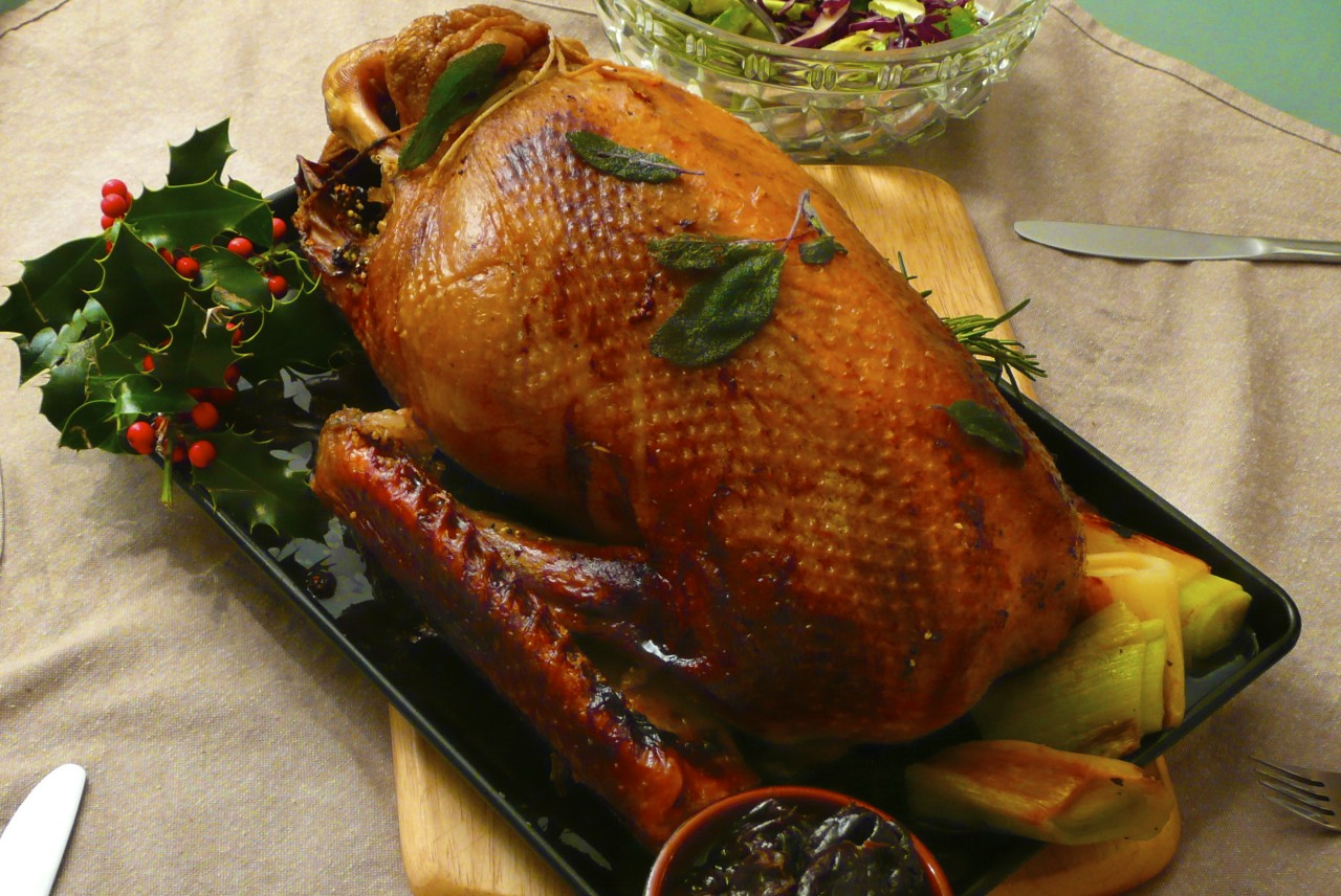 Roast Goose for Christmas or a