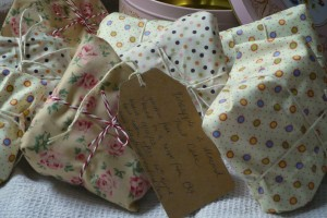 Little parcels of fabric-wrapped goodness. Better than an apple for the teacher!