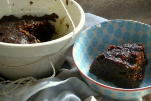 serving up the plum pudding after 3 hours of boiling.