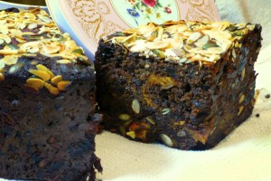 slice of gluten free fruit cake